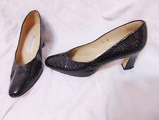ETIENNE AIGNER Taylor Womens Chunky Mid Heel Pumps Classics Shoes 8M Black Spain