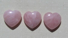 Natural Pink Rose Quartz Crystal Polished Love Heart Stone Healing DIY Jewelry
