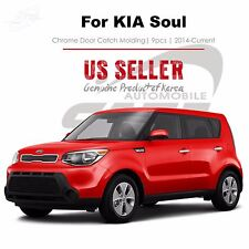 Chrome Door Catch Trim Molding Handle Tape On 9pc for KIA Soul 2014-2017 NEW