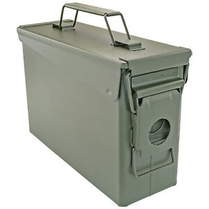 .30 Cal Ammo Can Military Quality Ammunition Bullet Storage Box Brand New Green