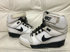 Womens Nike Air Revolution Sky Hi White Boots Hidden heel Trainers Size uk 6