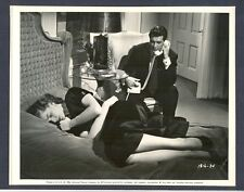 LAUREN BACALL + ROCK HUDSON - GREAT 1956 LINEN-BACKED PHOTO - SIRK FILM