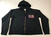 Disney Parks Epcot Rose & Crown Pub Women's Hoodie Zip Sweatshirt Size Small S