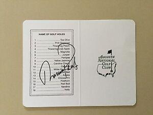 Thomas Pieters signed Masters Tournament Scorecard COA PGA Tour Golf