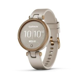 Garmin 010-02384-01 Lily Sand Silicone Band Smartwatch Sport Edition Watch