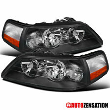 For 2005-2011 Lincoln Town Car Black Headlights Head Lamps Replacement 06 07 08