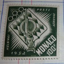 MONACO - PA N°53 - Timbre Neuf avec Trace de Charnière  - JO Helsinki 1952