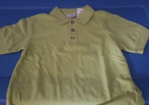 New 110 Hanna Andersson Green POLO Shirt  boy 5 lime Spring