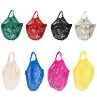 Mesh Bag Organic Cotton String Shopping Tote Net Woven Re-usable Bag Multi Color