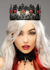Wicked Queen Gothic Black Metal Royal Crown