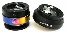 NRG Steering Wheel Short Hub Adapter Quick Release BKM For Nissan 240SX 300ZX