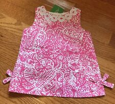 Baby Lilly Pulitzer Shift Dress Bloomers 3 6 Months Hotty Pink Get Crackin New