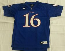 Adidas Kansas Jayhawks Youth XL (18-20) Gameday Replica Football Jersey  Blue   67f629108