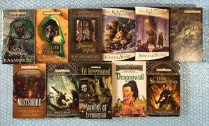 11x FORGOTTEN REALMS Bulk Book Lot Of 11 Pb Wizards Of The Coast R.A Salvatore