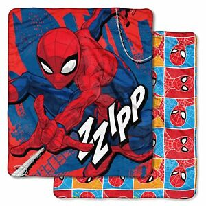 """BY MARVEL BOY'S DOUBLE-SIDED SUPER SOFT THROW OVERSIZED 60"""" x 70"""" NEW"""