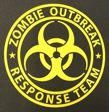 1 LEMON YELLOW ZOMBIE OUTBREAK DECAL STICKER FORD CHEVY DODGE VW JDM HONDA MAZDA