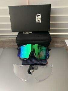 100 hypercraft Bicycle Cycle Bike Glasses / Sunglasses Green+Clear New Edition