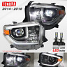 For 2014-2018 Toyota Tundra Chrome Projector Headlights TRD-PRO Assembly H7 LED