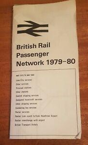 British Rail Passenger Network 1979-1980 Map 79-80