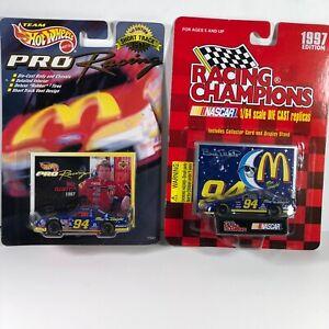 Lot 2 McDonalds Hot wheels & Racing Champions 1997 Edition #94 Bill Elliott Cars