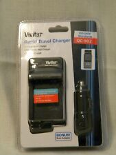 Vivitar Rapid Travel Charger QC-902 includes AC Wall and DC Car Chargers
