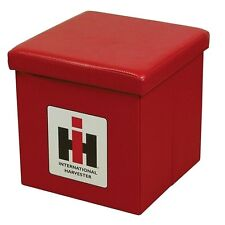 International Harvester IH Logo Red Collapsible Storage Ottoman - Toy Box
