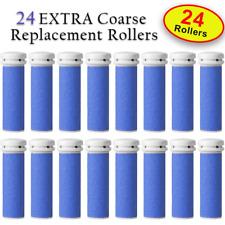 24 X EXTRA Coarse Micro Mineral Emjoi Micro-Pedi Compatible Replacement Rollers