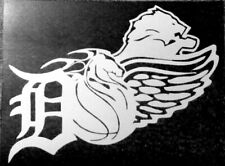 DETROIT REDWINGS, TIGERS, PISTONS, LIONS vinyl decal