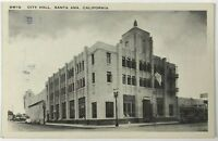 Postcard Santa Ana CA City Hall California Street View Car Pep Boy 1920's 1930's