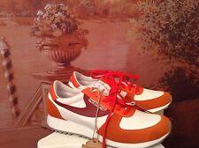 diesel sherun womens white /orange shoes size8