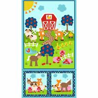 RJR Fabrics Apple Hill Farm panel by Kids Quilts. Patchwork. 100% cotton