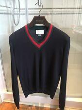 Gucci Navy Blue Wool Jumper V-Neck Size Medium RRP £650