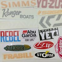 A bunch of Fishing Decals wholesale  lot of 14 stickers