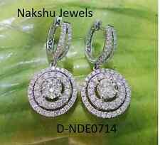 Genuine 4.00 ct VS1 Off White Moissanite Stud Earrings 925 Sterling Silver