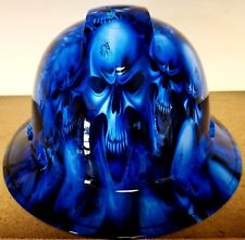 Hard Hat FULL BRIM custom hydro dipped , OSHA approved ICE SKULL LIMITED EDITION