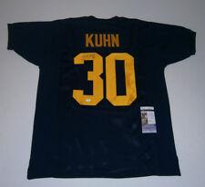 PACKERS John Kuhn signed navy throwback jersey w/ #30 JSA COA AUTO Autographed