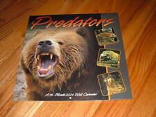 Predators 2004 Calendar Bear Wolf Tiger Snake Spider Vicious Animals Sealed New