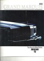 "1988 MERCURY GRAND MARQUIS LS COLONY PARK GS SHOWROOM BROCHURE ""NOS"""