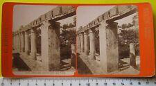 Ercolano Giardino della Casa di Argo stereophoto G. Brogi di firenze - fine 800