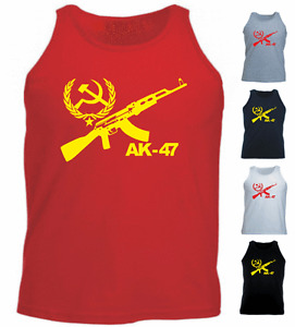 AK - 47 CCCP Funny New Present Gift Athletic Vest