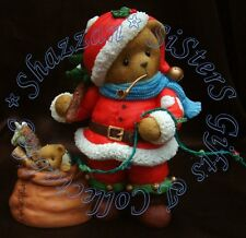 Cherished Teddies St Nick Large Lit Santa USA Exclusive & Limited Edition
