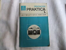Instructions 35mm SLR camera PRAKTICA Pentacon L   - CD/Email