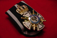 GERMAN  WWI PARADE BAR - ROYAL HOUSE ORDER OF HOHENZOLLERN KNIGHT W/SWORDS