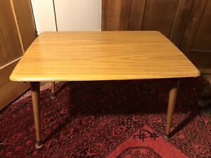 Vintage Mid Century Mallod Snap Down Folding Occasional Table With Dansette Legs