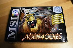 NEW MSI GeForce NX8400GS-TD256E 256MB 64-Bit GDDR2 PCI x16 Video Card NVIDIA