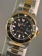 New Ladies Invicta Cruiseline Swiss Two Tone Coin Edge Bezel Black MOP Watch