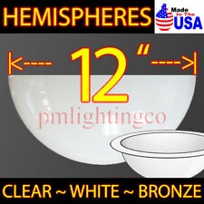 "12"" Hemisphere Usa Made Round Acrylic Plastic Dome Bubble Window Cosplay Bb-8"