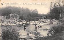 CPA 86 L'ISLE JOURDAIN LA VIENNE AUX ROCHERS DES CHATILLONS