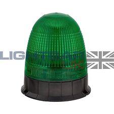3 pernos de montaje Digger planta Luz Estroboscópica Baliza Giratoria De Led Intermitente Cinturón De Seguridad Verde