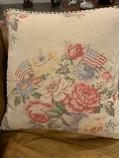 Vintage Ralph Lauren Dylans Grove Floral Flags pillow down insert 20x20